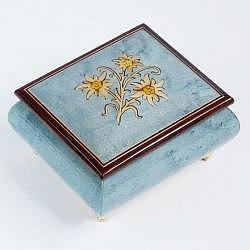 "Music Box ""Edelweiss"", light blue"