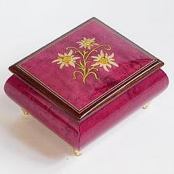 "Music Box ""Edelweiss"", winered"