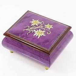 "Musikdose ""Edelweiss"", violett"