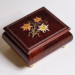 "Music Box ""Edelweiss"", brown"