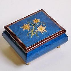 "Music Box ""Edelweiss"", blue"