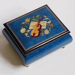 "Music Box ""Violin"", blue"